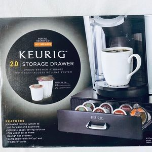 Keurig 2.0 Storage Drawer 28 K Cup 20 KCarafe Pods